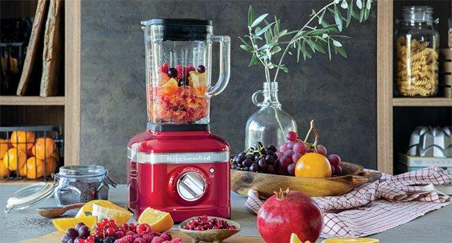 blender kitchenaid rouge fruits